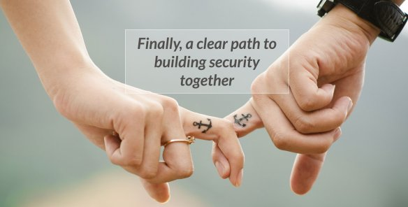 couple feeling secure together