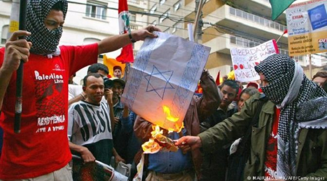 latin america burns israeli flag