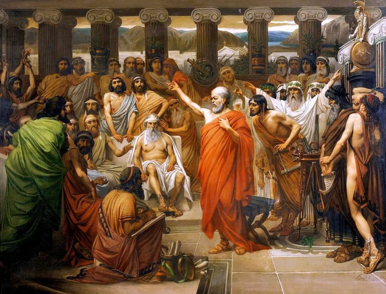 """Socrates Address"" by Louis Joseph Lebrun."