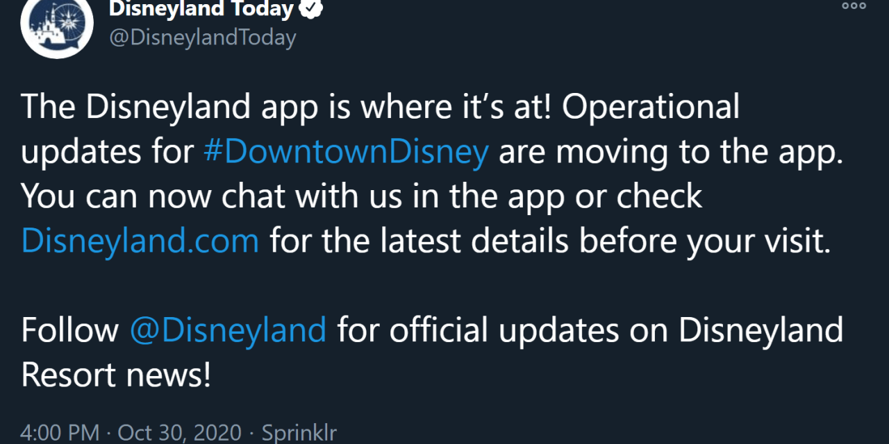 Disney Parks shutter popular @DisneylandToday twitter account following continued reductions in staff