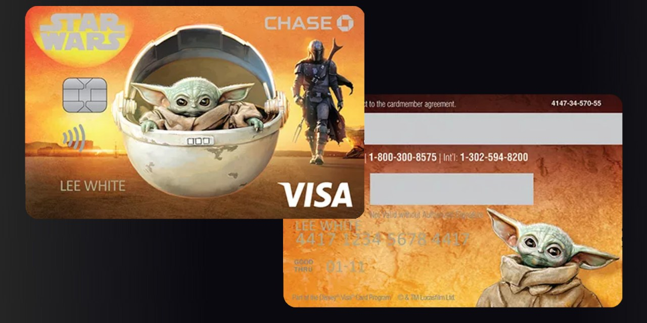 New Disney Visa card design features THE MANDALORIAN (but mostly The Child), available now for free!