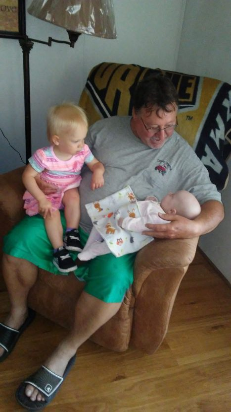 Mil with grampa Dillon and cousin Charli