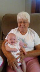 Milli with great-grandma (Mamaw)