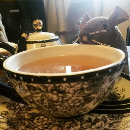 I had some tea after a stressful day.