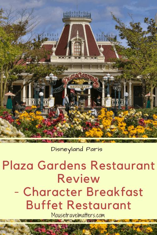 Plaza Gardens Character breakfast at Disneyland Paris