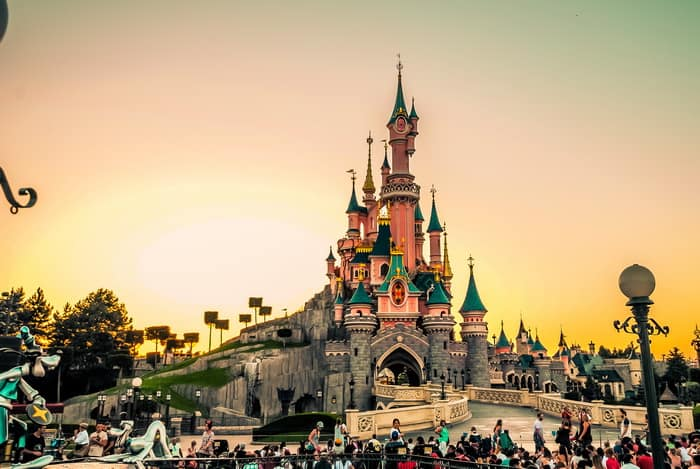 Sunset at the Sleeping Beauty Castle