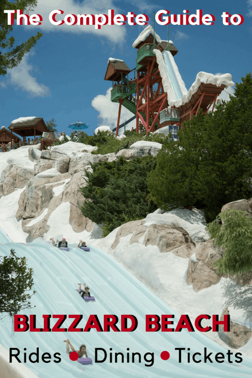 Everything you need to know about Disney's Blizzard Beach Waterpark. #waltdisneyworld #disney #disneyparks #disneyworld #disneytips #blizzardbeach