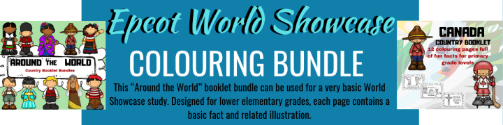"""This """"Around the World"""" booklet bundle can be used for a very basic World Showcase study. Designed for lower elementary grades, each page contains a basic fact and related illustration."""
