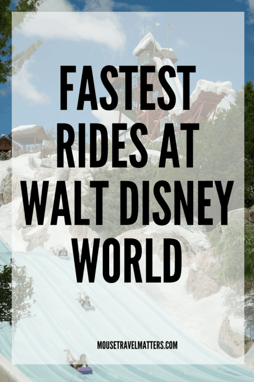 Top 12 Fastest Rides at Walt Disney World