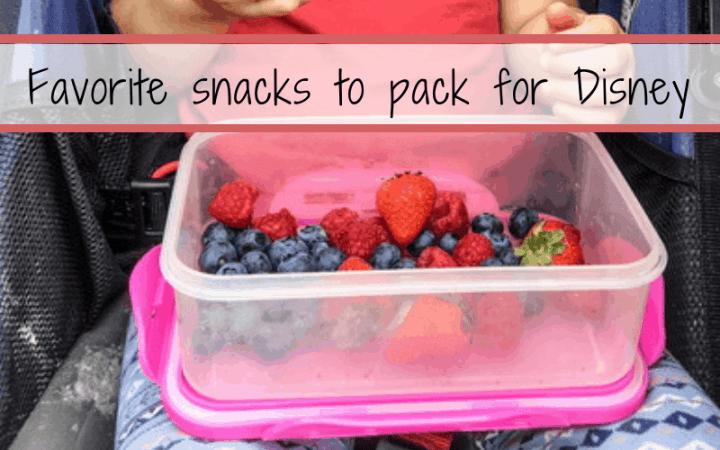 Favorite snacks to pack for Disney
