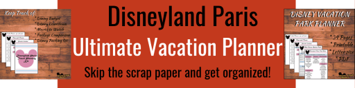 Disneyland Paris: Travel Planner - Vacation Planning, Disneyland ParisPlanning, Printable PDF