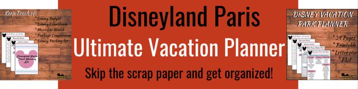 Disneyland Paris: Travel Planner - Vacation Planning, Disneyland ParisPlanning, Printable PDF