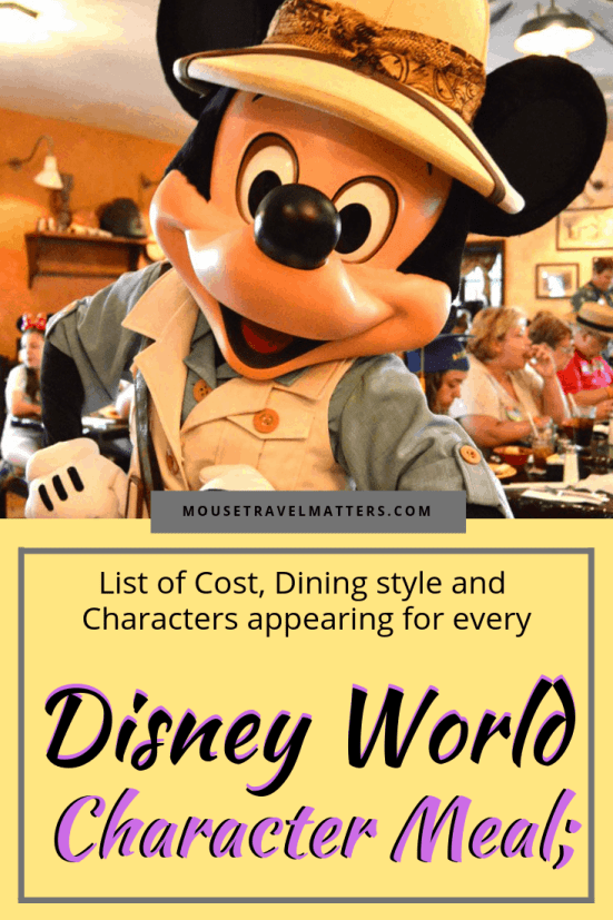 Character dining at the Disney parks combines three of my favorite things in the world…visiting the theme parks, meeting my favorite Disney characters and eating really great food! Here's a rundown of character dining experiences at Magic Kingdom, Epcot, Disney's Hollywood Studios and Disney's Animal Kingdom to help you make the right choice