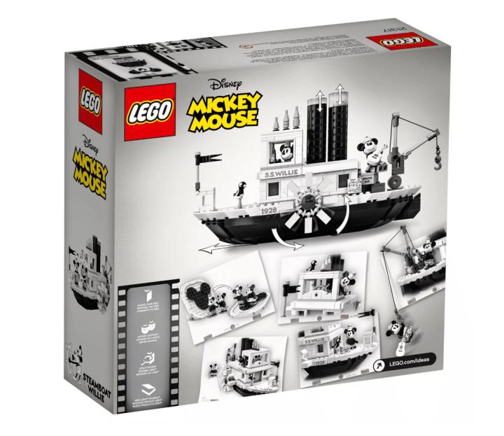 90th Anniversary Steam Boat Willie LEGO set