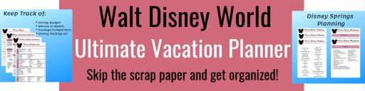 walt disney world vacation planner