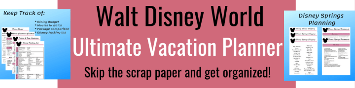 This is your Disney Planner, for your Walt Disney World vacation.  Organize your Walt Disney World with this detailed printable planning guide.  to help organize your Disney itinerary for your next Disney trip.