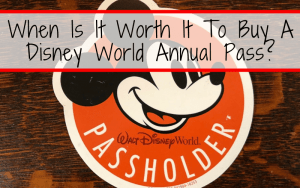When Is It Worth It To Buy A Disney World Annual Pass?