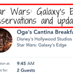 Star Wars: Galaxy's Edge reservations and updates