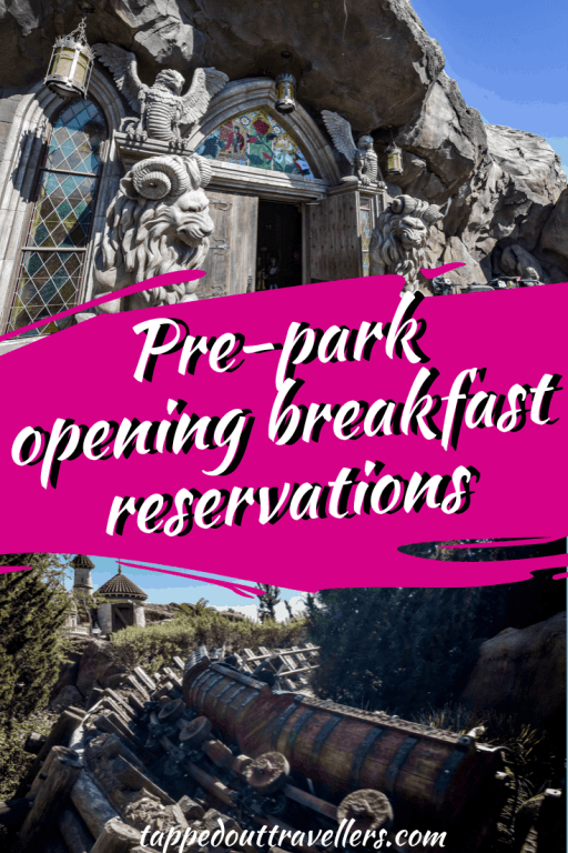 Disney World breakfast reservations and a ride - before the park opens!