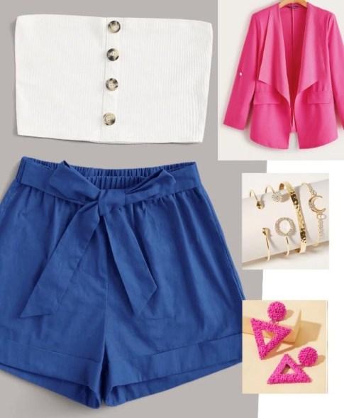 outfit azul y rosado