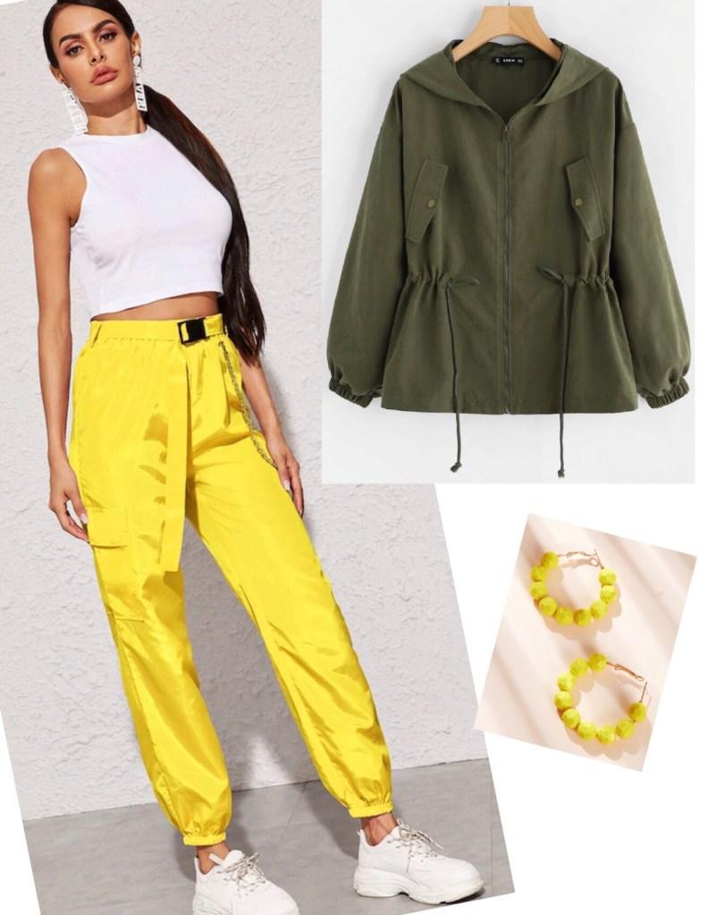 outfit verde y amarillo