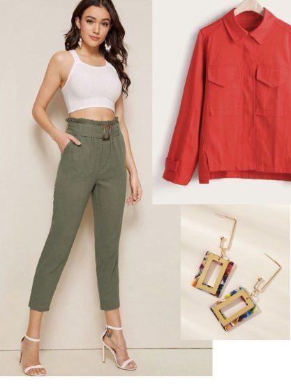 Outfit Verde y Rojo
