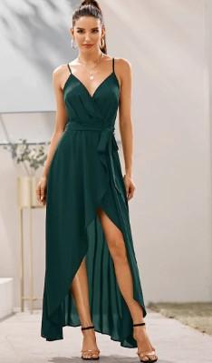 vestido de fiesta turquesa