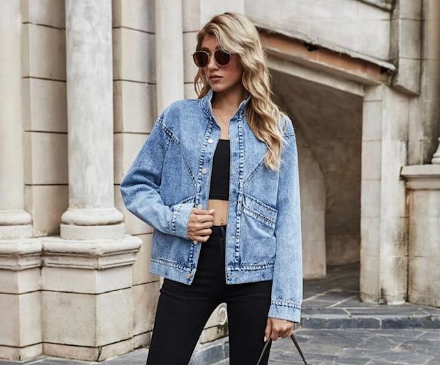 ▷ Tendencias Chamarras Jeans Económicas para Mujer
