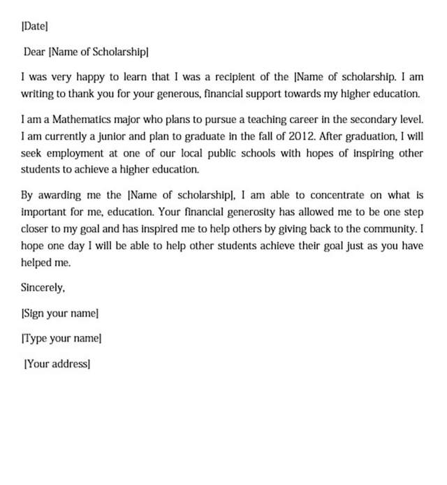 Thank You Letter Sample For Doc Pdf