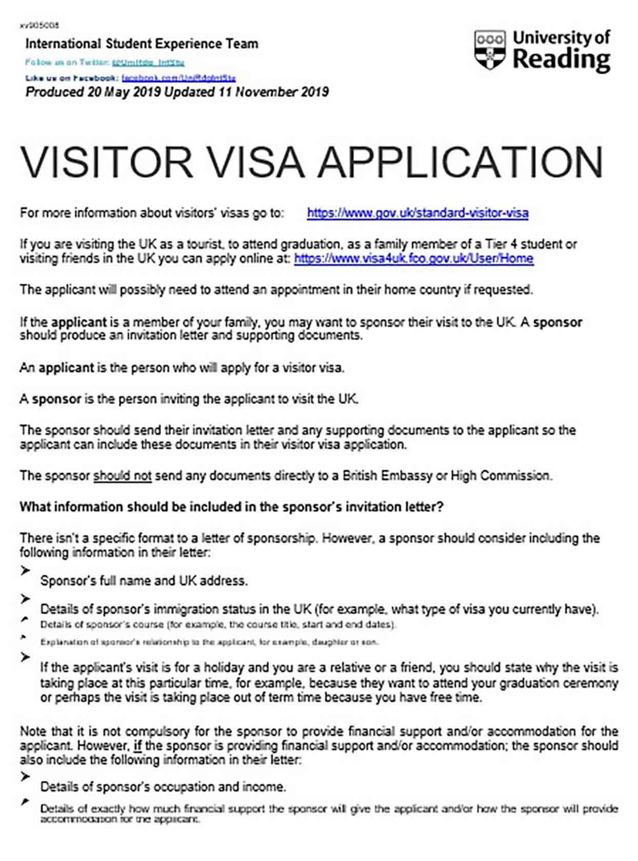 Visa Sponsorship Letter And Tips To Make The Reader