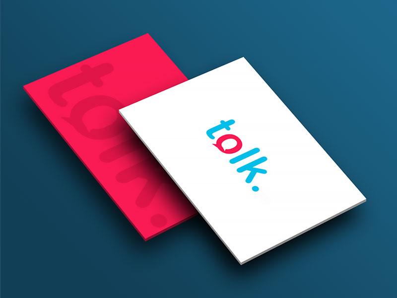 Logo identité visuelle Talk