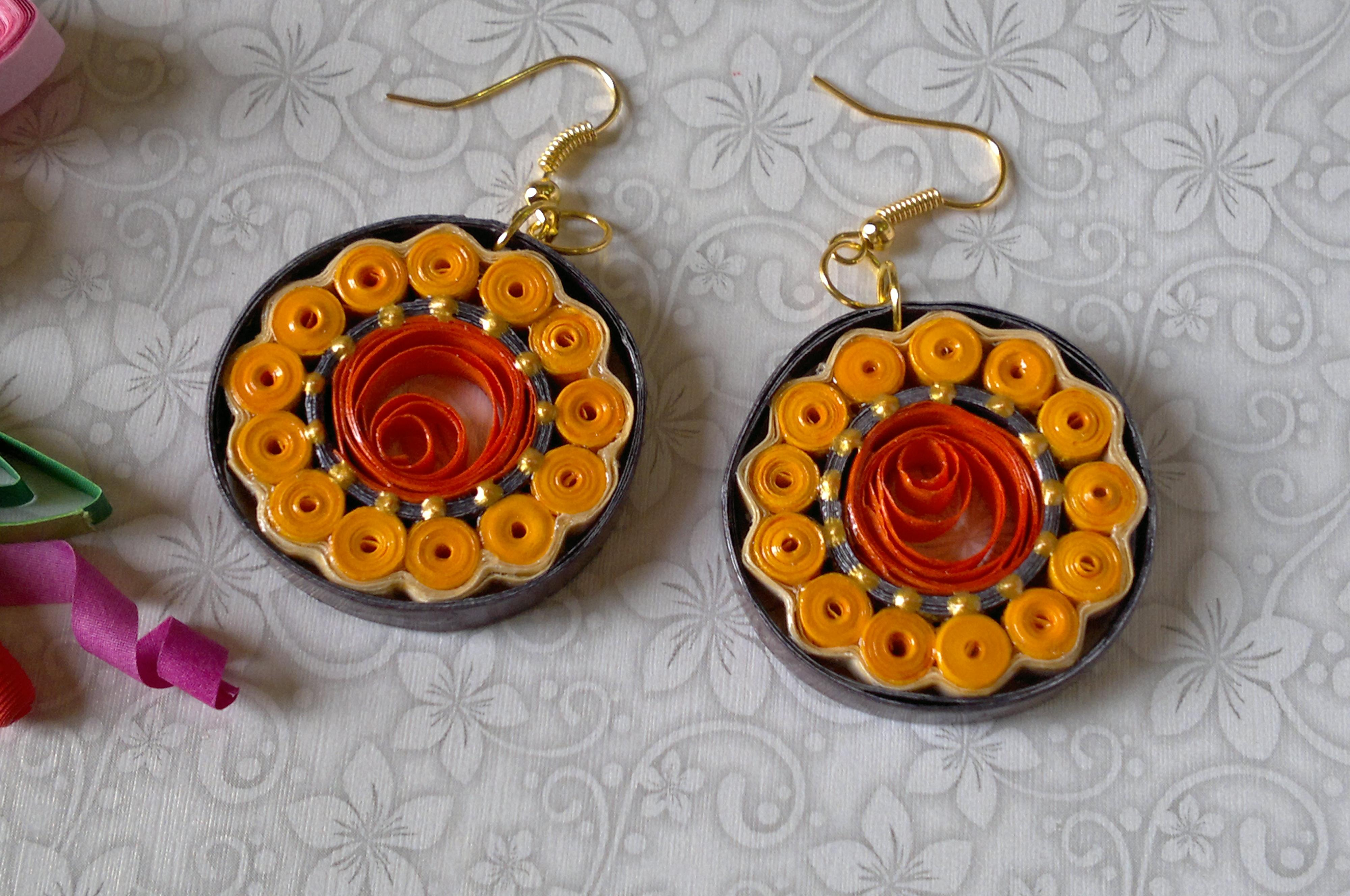 PAPER QUILLING EARRINGS Mousumi Arts And Design