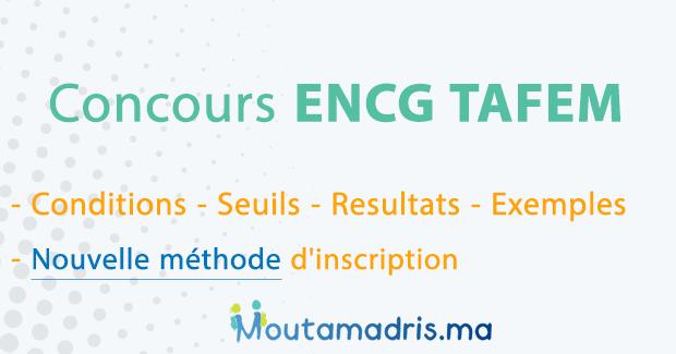 Concours ENCG TAFEM 2020-2021