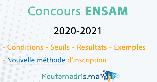 concours ensam 2020-2021
