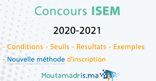concours isem 2020 2021