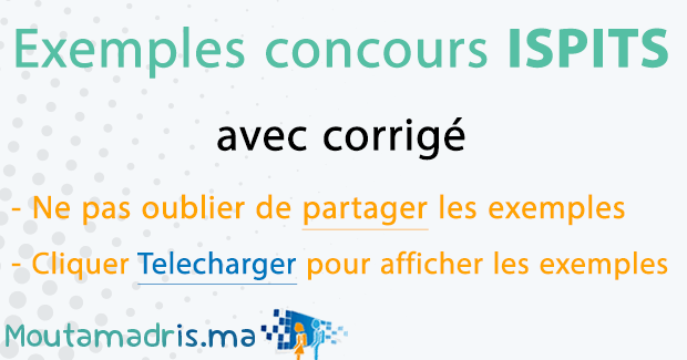 Exemple concours ISPITS
