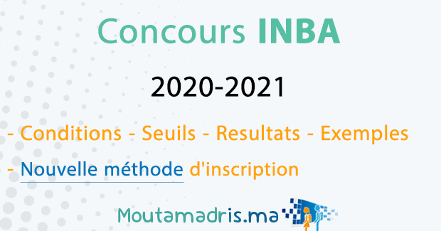 Concours INBA Tetouan 2020-2021