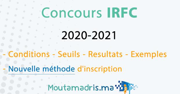 Concours IRFC Rabat 2020-2021