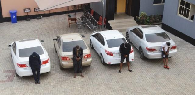 PHOTOS: EFCC arrests 13 suspected fraudsters in Ibadan