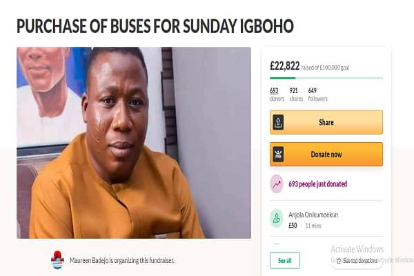 How supporters raised over N14m for Sunday Igboho