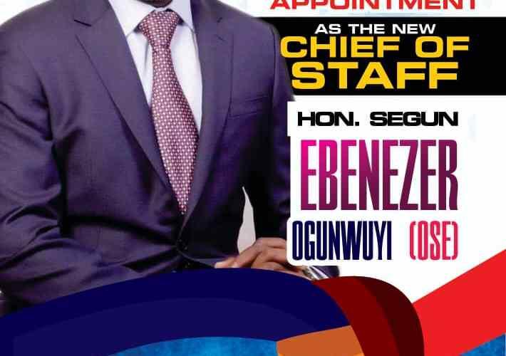 John Oke LEGACY congratulates Makinde's new Chief of Staff, Segun Ogunwuyi