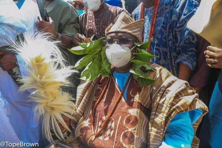 PHOTOS: Senate President, Lawan bags Yoruba chieftaincy title in Ekiti