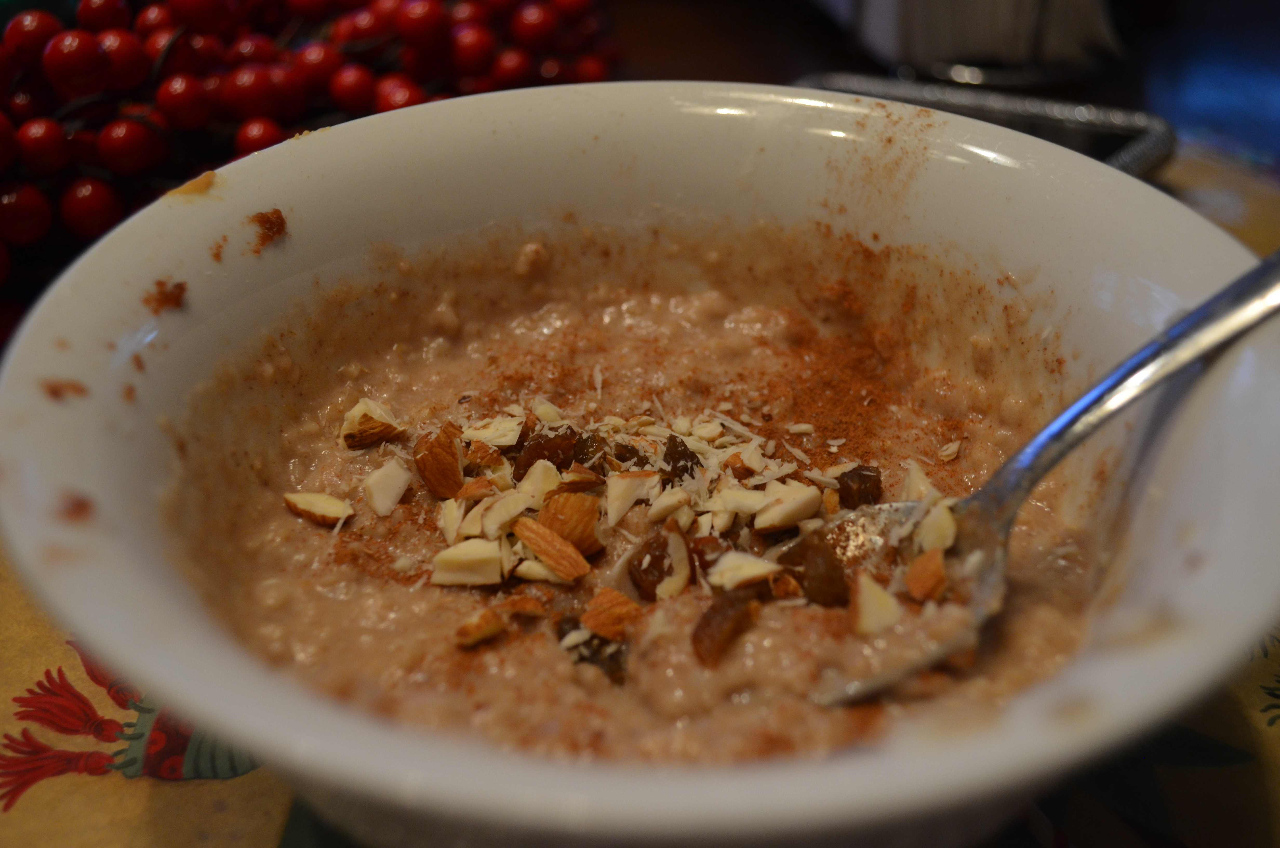 apple peanut butter protein oatmeal