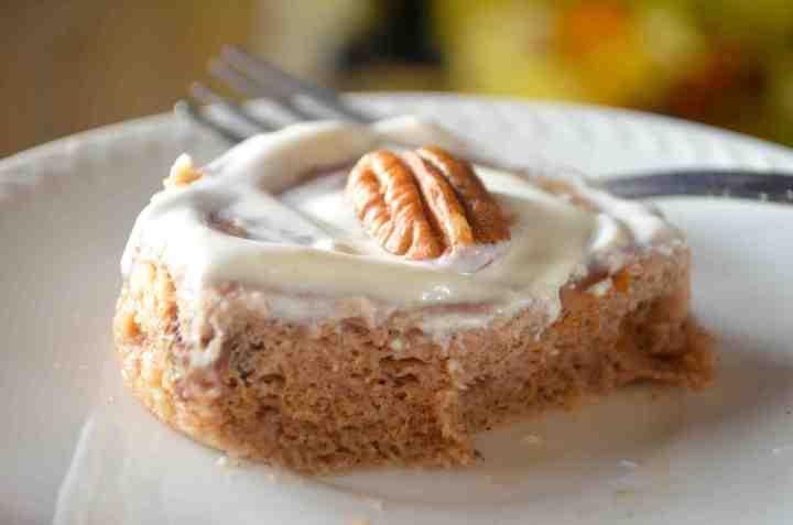 Buttery Mini Protein Cinnabun For One!