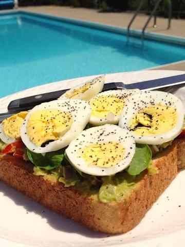 Vegetarian Open-Faced Avocado Chickpea Sandwich