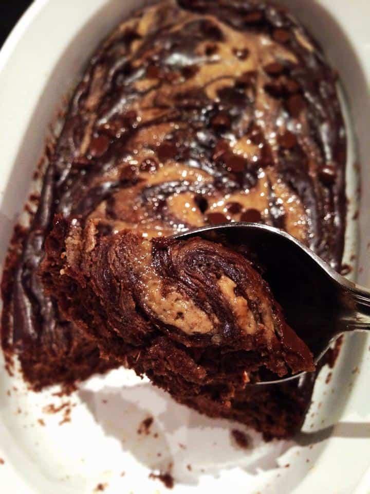 Chocolate Almond Swirl Banana Bread For One
