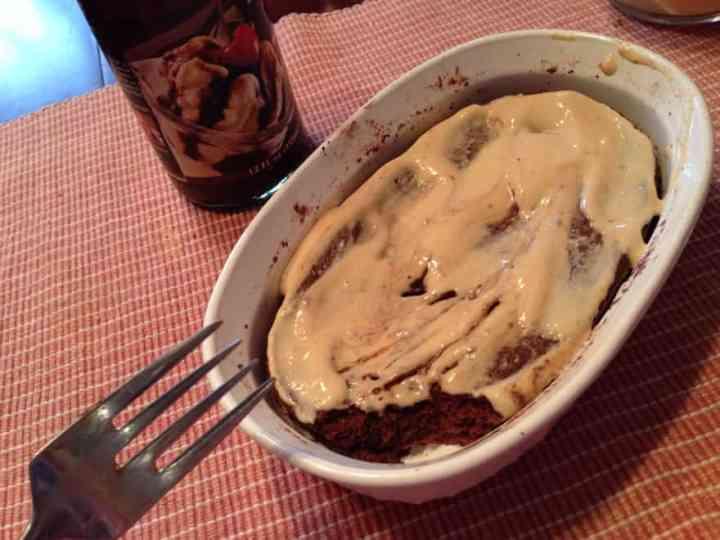 Molten Chocolate Peanut Butter POV Cake