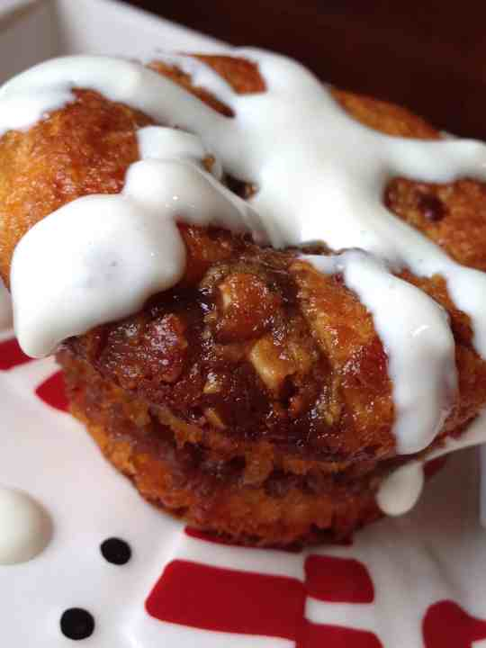 Low-Carb Caramel Pecan Protein Muffins w/ Cream Cheese Frosting