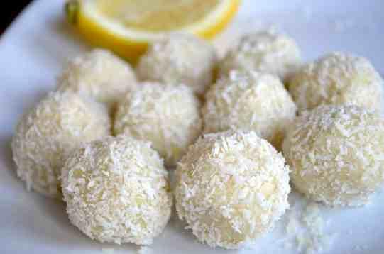 (No-Bake) Keto Lemon Coconut Balls