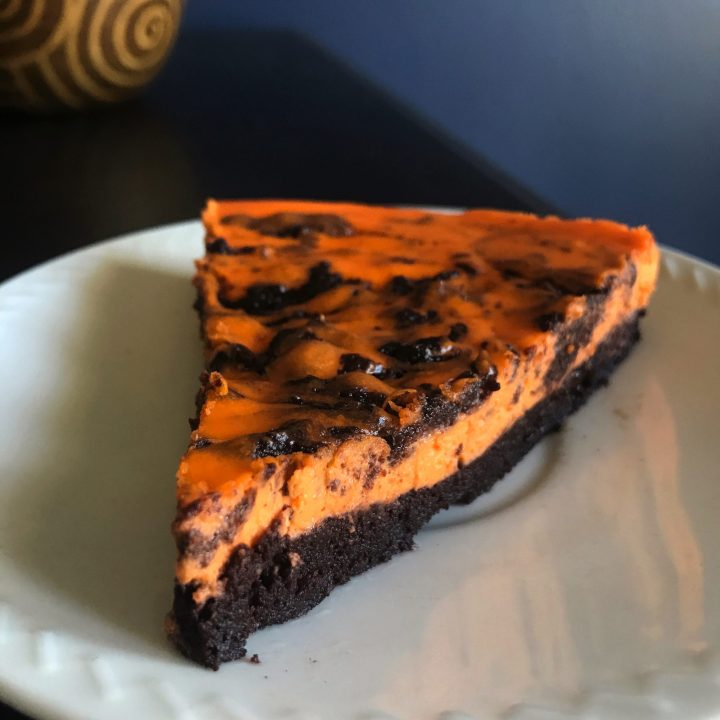 halloween brownie cheesecake